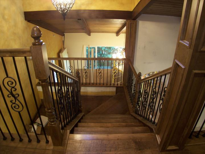Stair railing installation