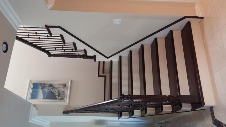 Staircase Remodeling Full Wood Steps Stair Handrail