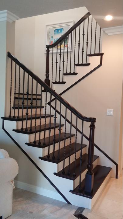 Stair Renovation Remodel Existing Stair Railings Custom Stairs