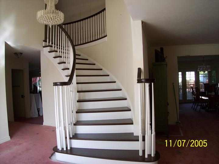 wood and iron stair railings Laguna Niguel