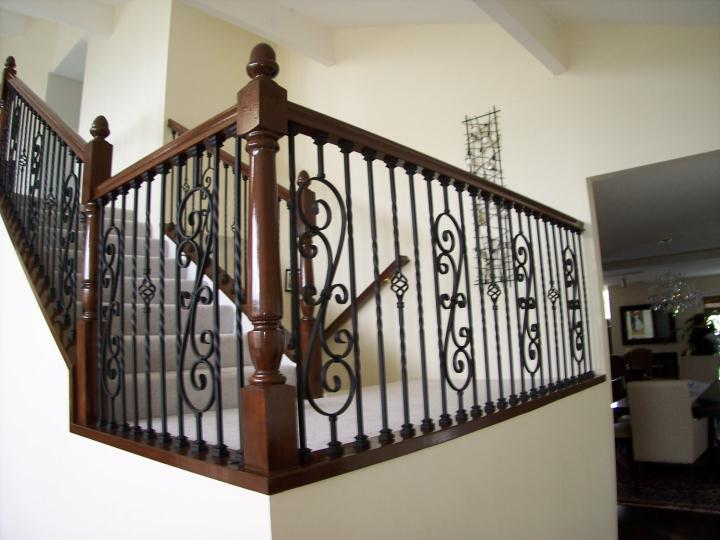 Iron U0026 Wood Stair Railing Contractors Laguna Niguel CA